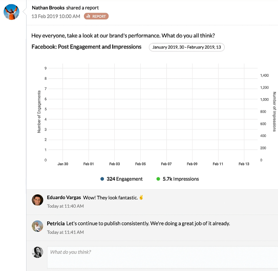 zoho social collaboration dashboard