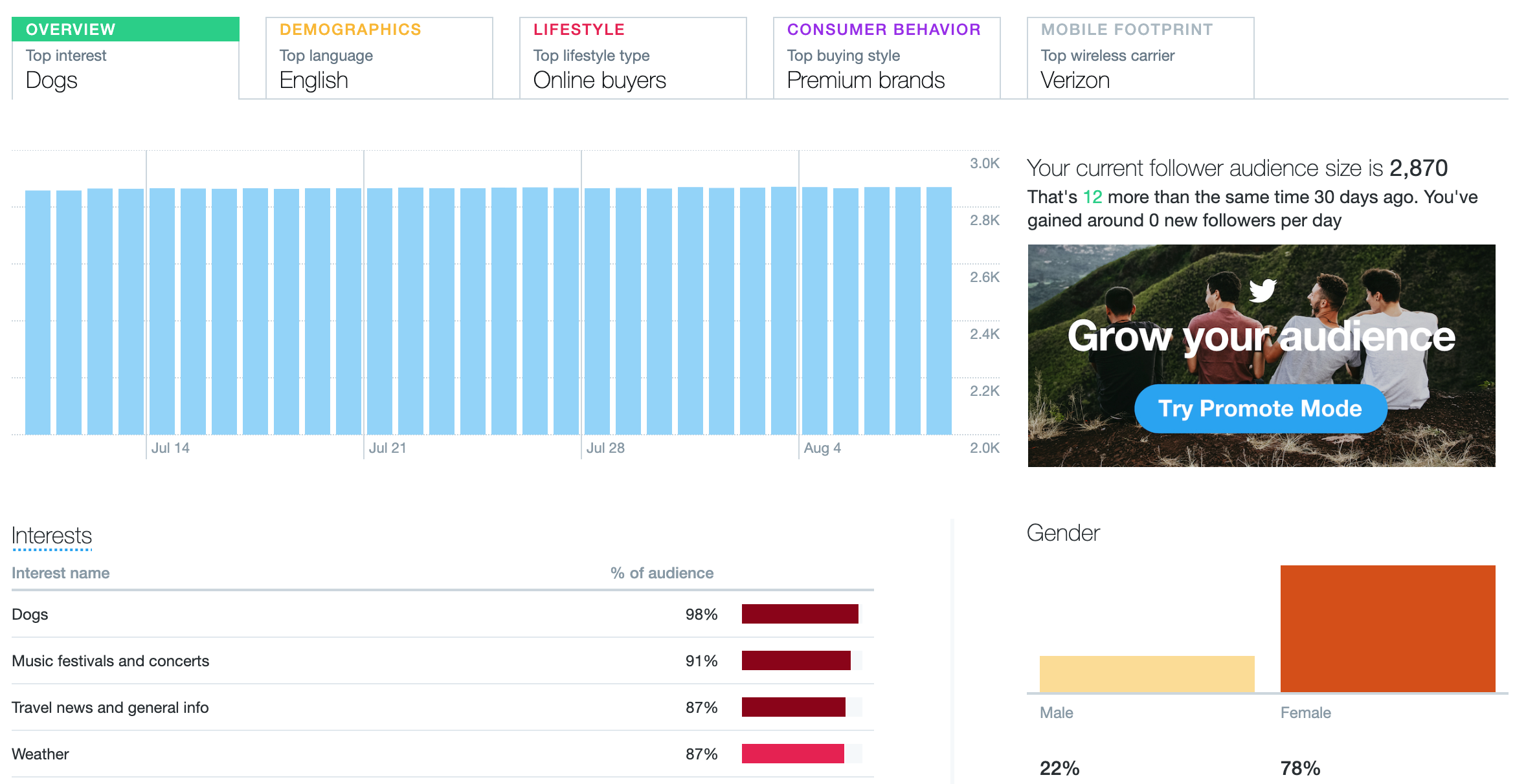 twitter audit - analyze your audience interests using twitter analytics
