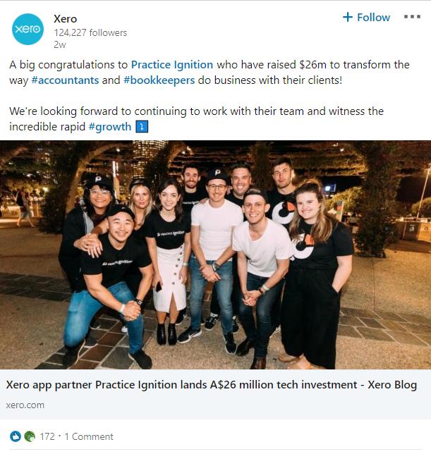 LinkedIn company tagging