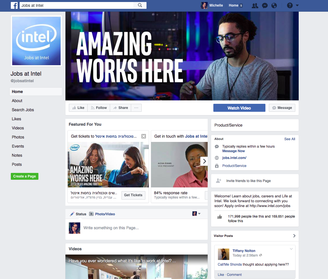 Intel employee advocacy example