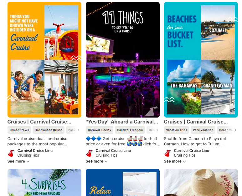 carnival cruising tips pinterest board