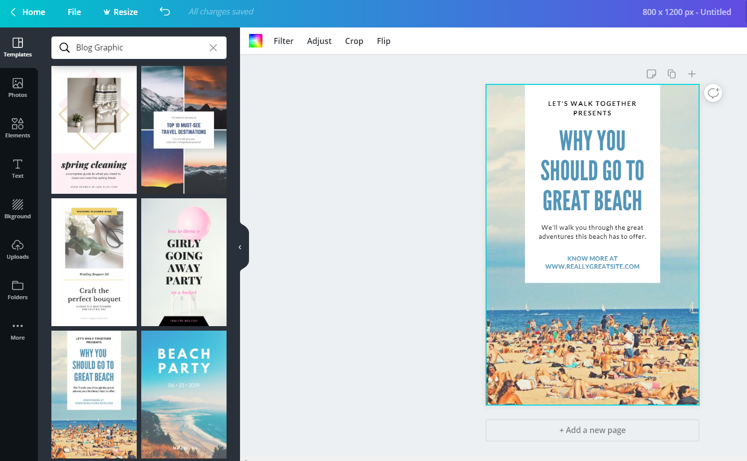 Canva is a fantastic tool for creating images for your blog posts