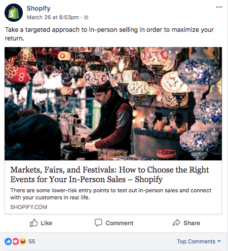 shopify advocacy example