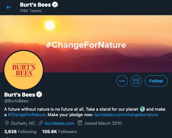 burtsbees twitter