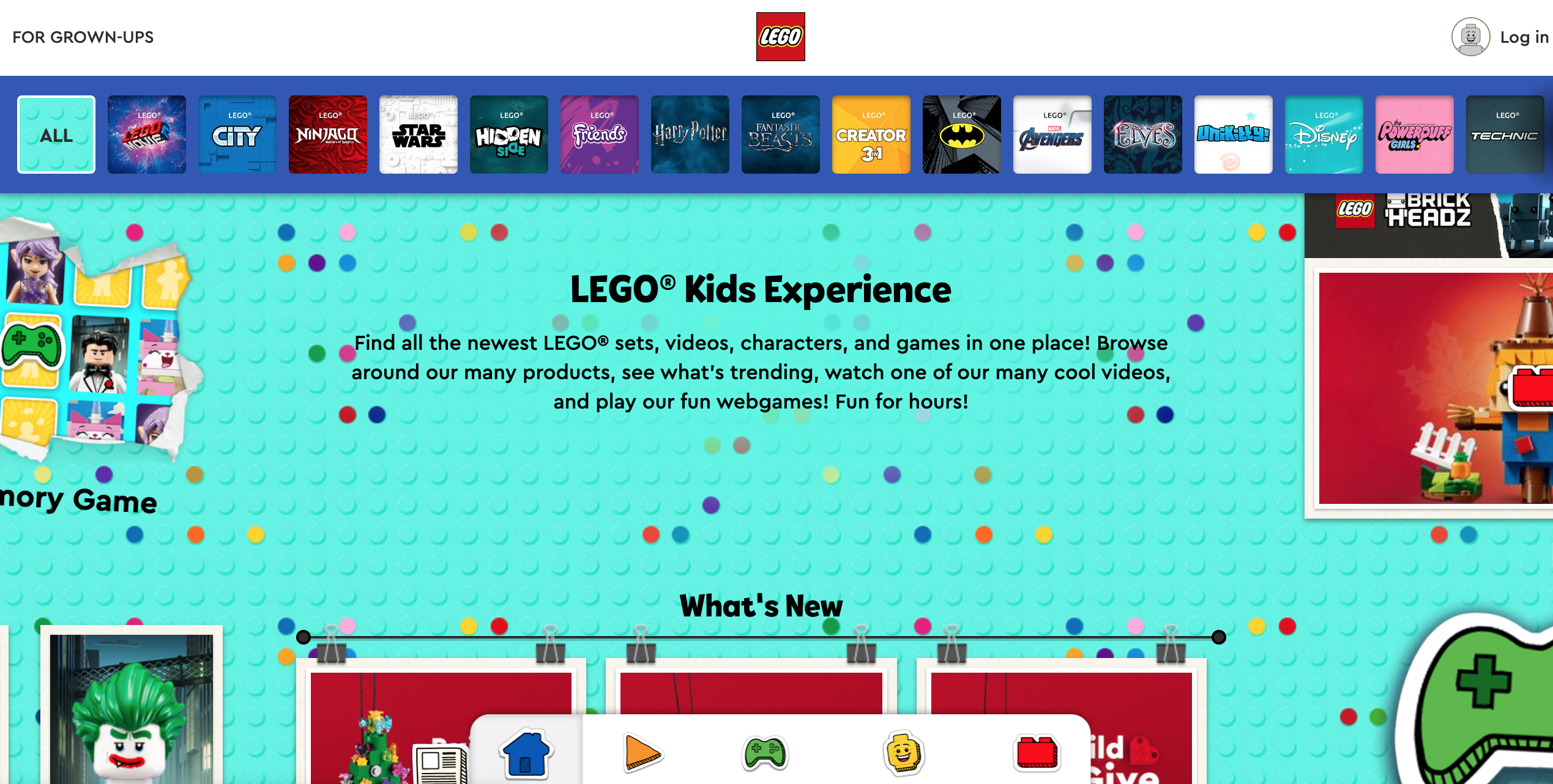 marketing to parents - lego
