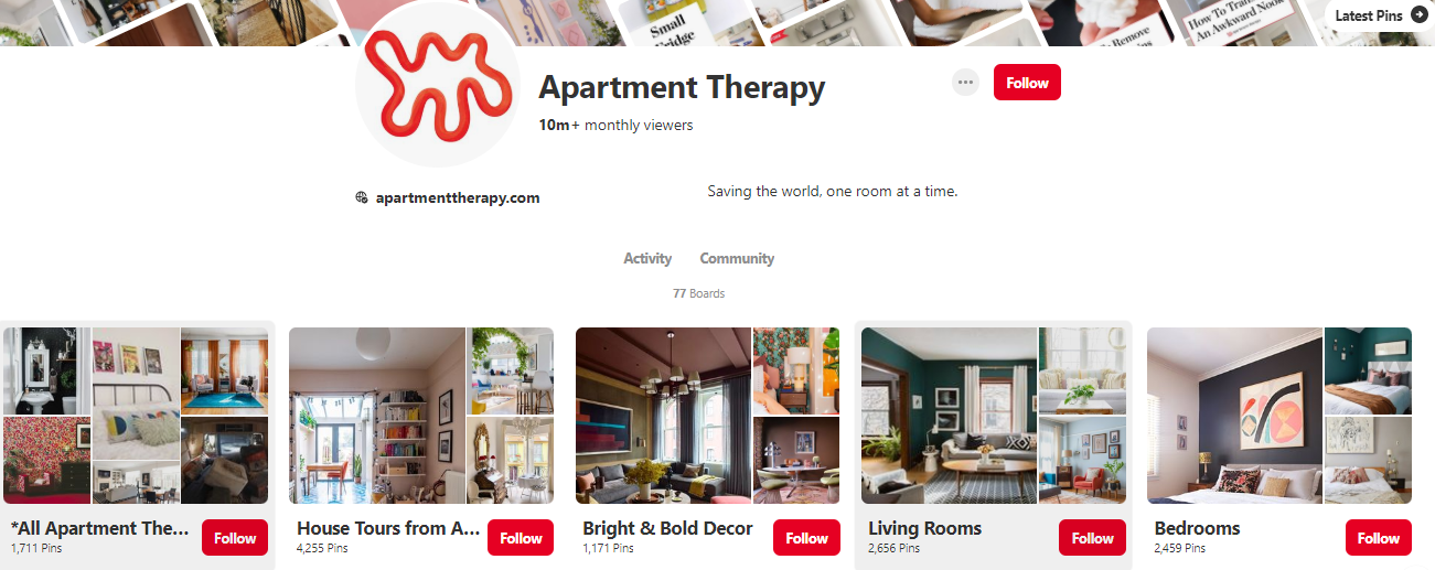 apartment therapy pinterest boards