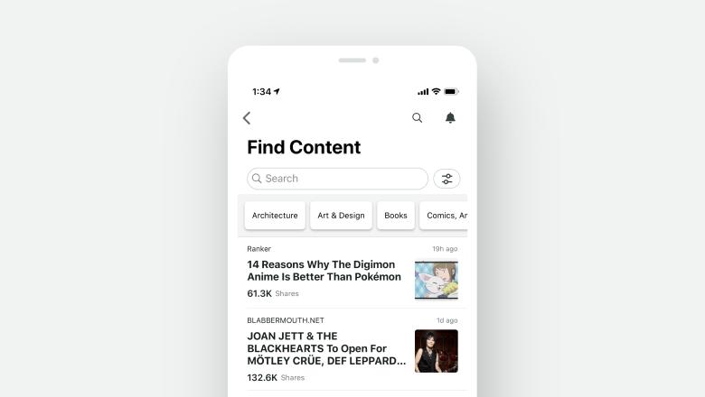 Find Content iOS