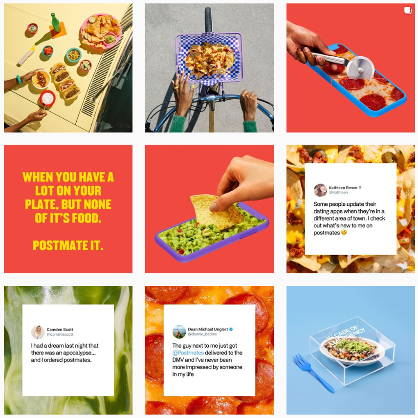 postmates content themes