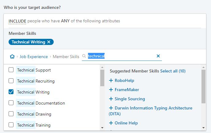 LinkedIn ad audience targeting
