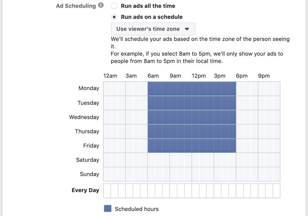 instagram advertising - schedule your ad