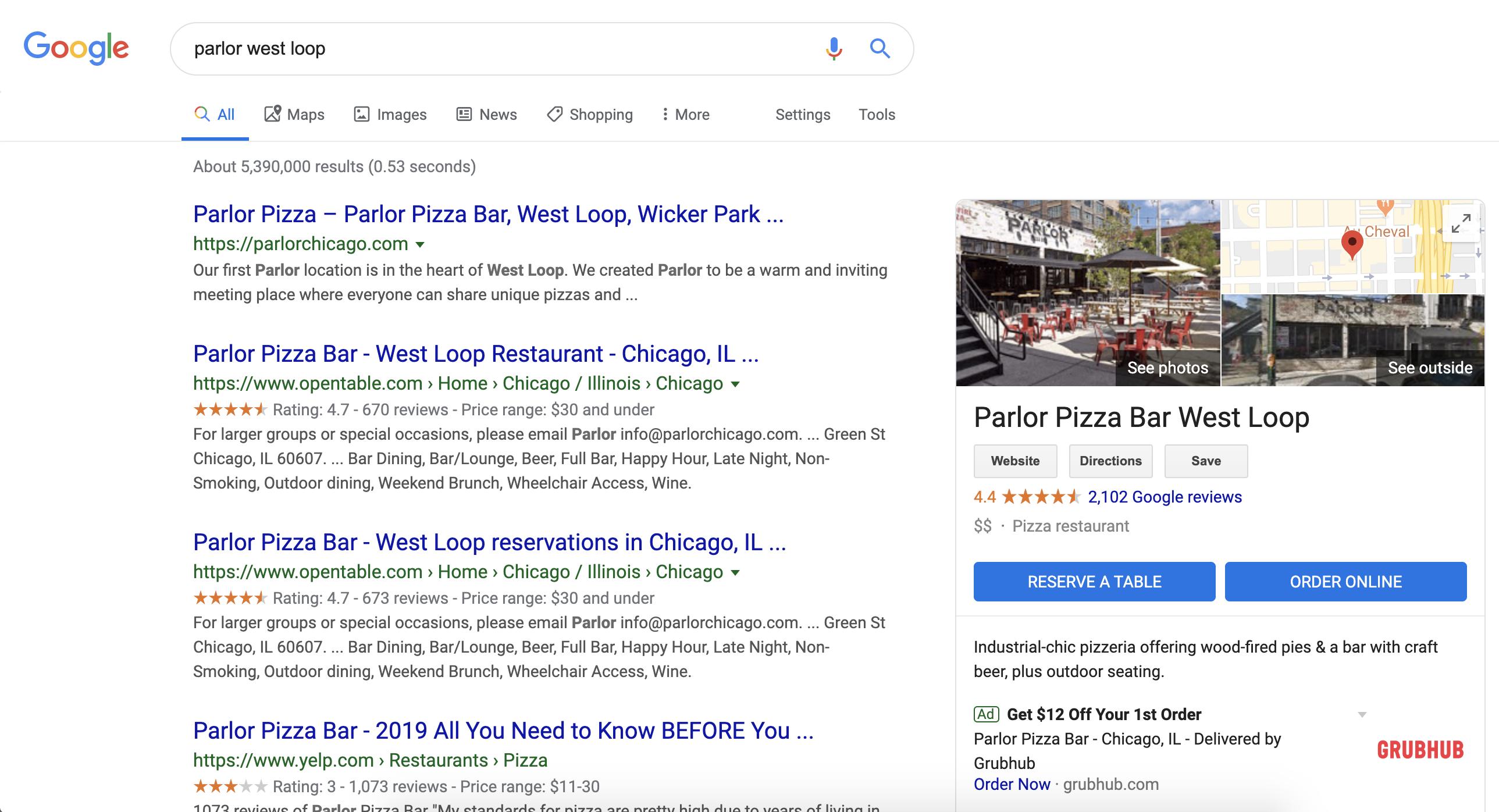 Parlor West Loop Google My Business