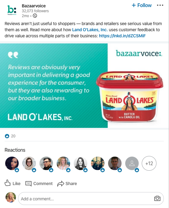 Land O' Lakes Reviews Example