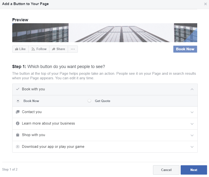 adding a call-to-action button on your Facebook business page is a smart way to funnel traffic on-site