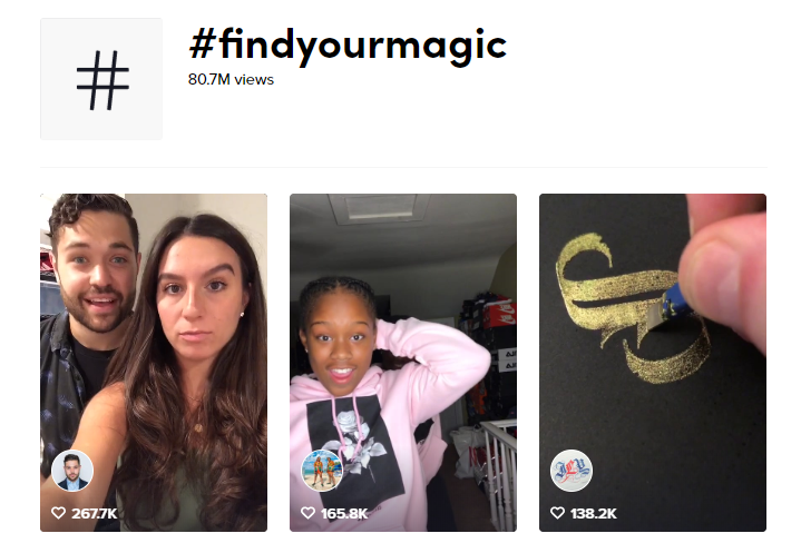 search results for findyourmagic hashtag challenge