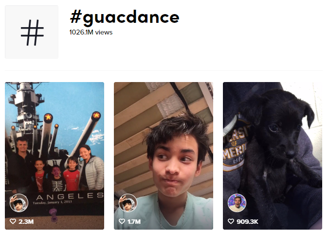 search results for guacdance hashtag challenge