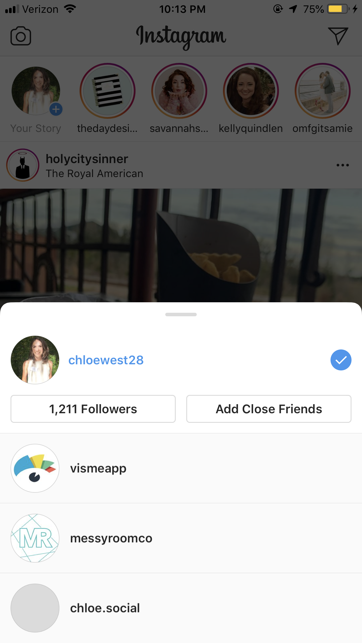 instagram hacks - manage multiple accounts from one device