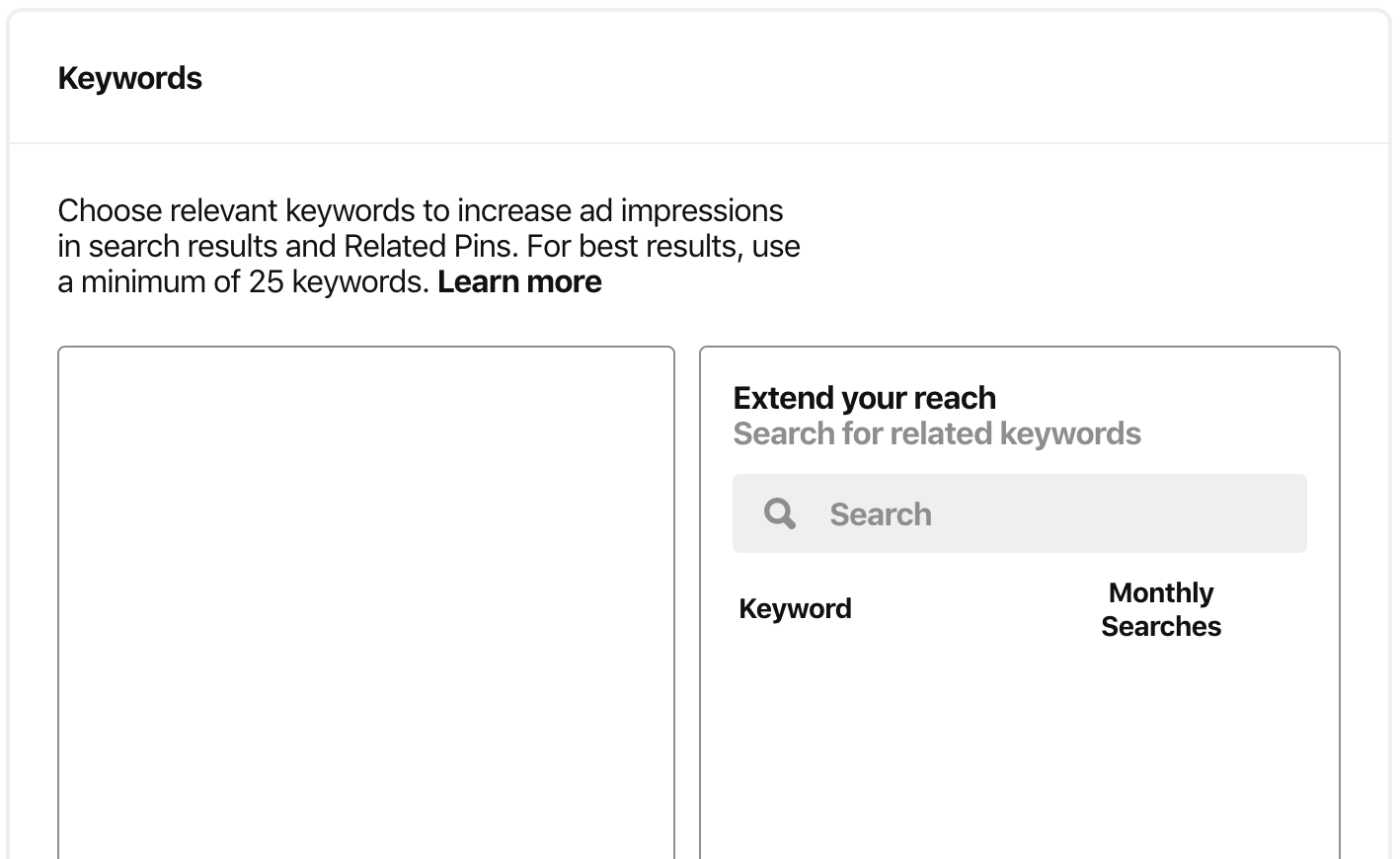 pinterest ad targeting - pinterest keyword targeting