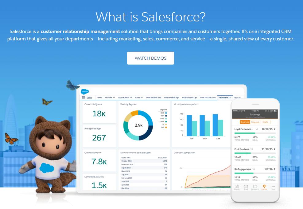 salesforce saas landing page