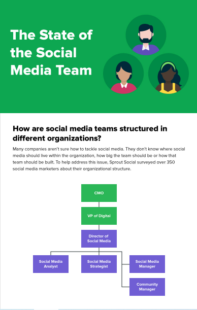 sprout infographic on state of social media teams