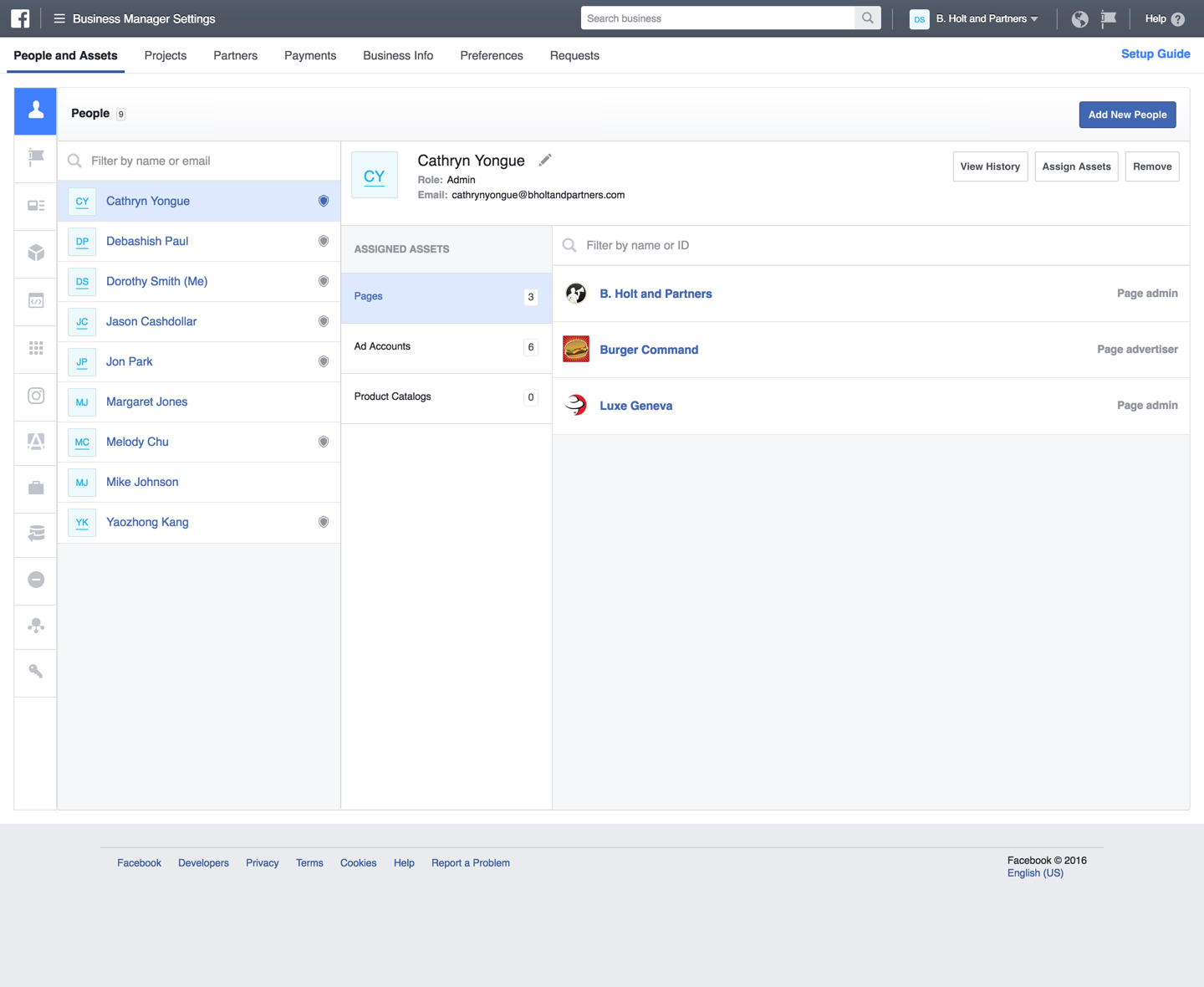 adding users to Facebook Business Manager