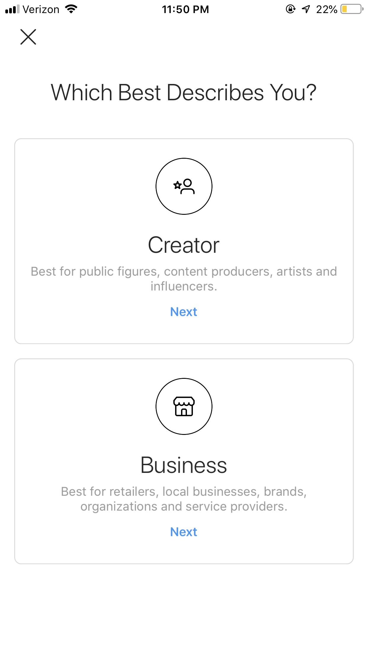 instagram business profile - creator vs business account