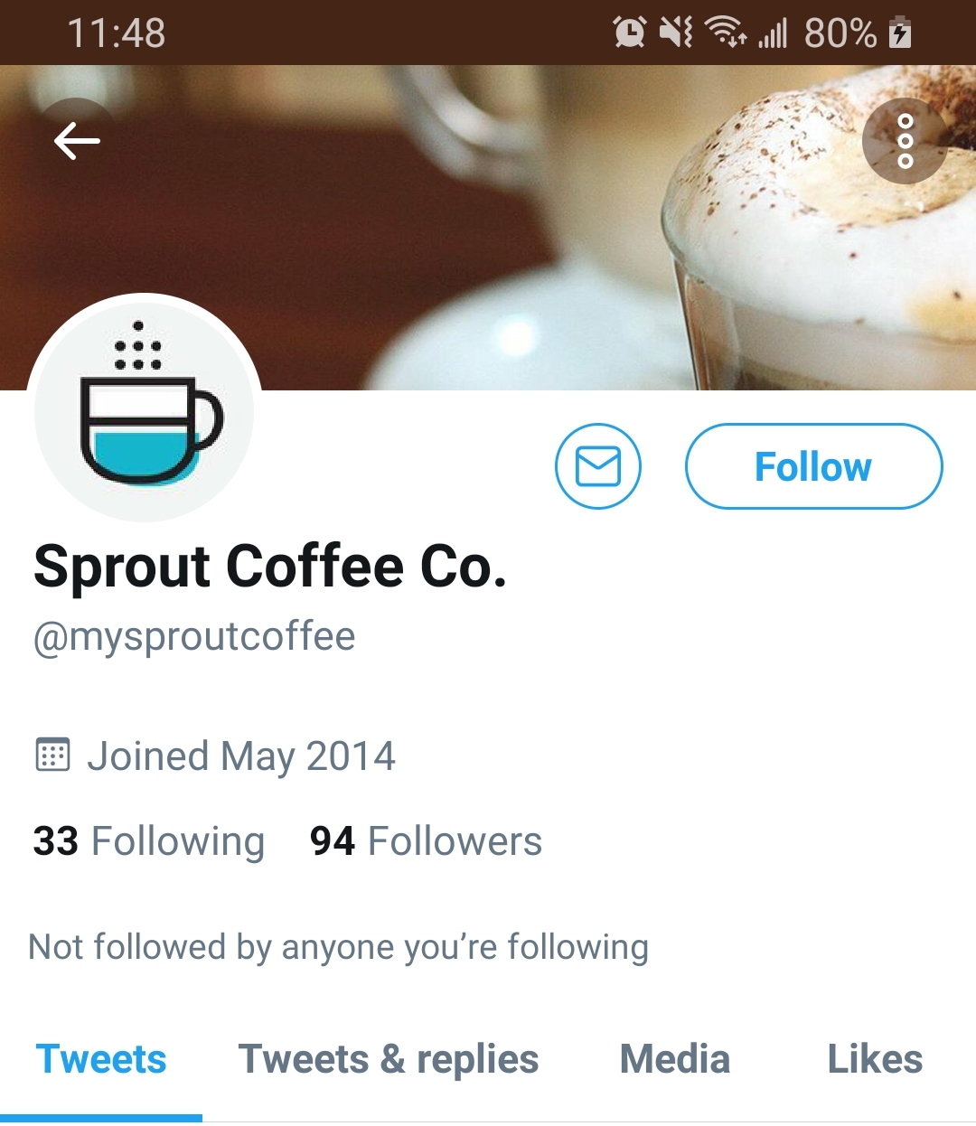 Sprout Coffee Twitter Profile