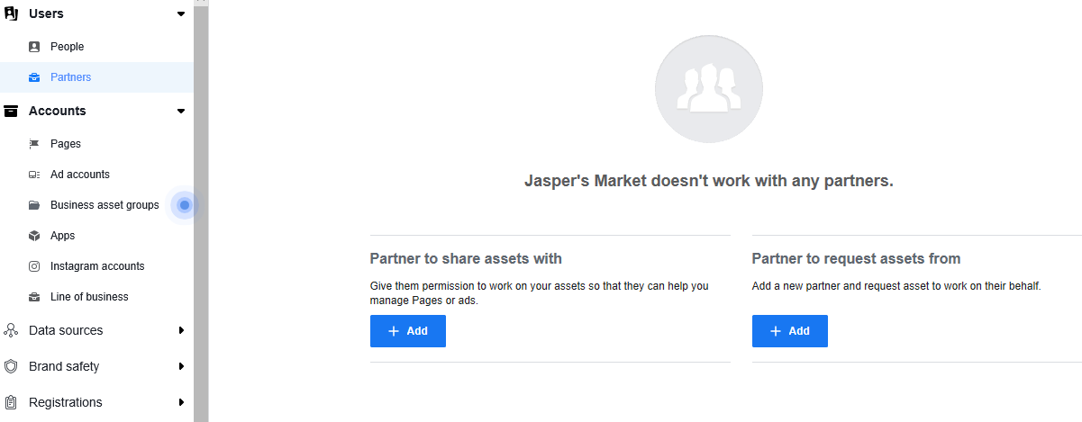 add a partner window facebook business manager