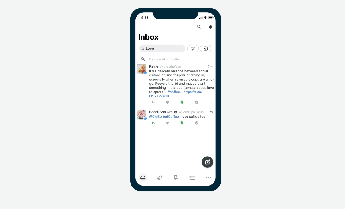 Inbox Search Mobile