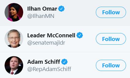 Twitter politicans