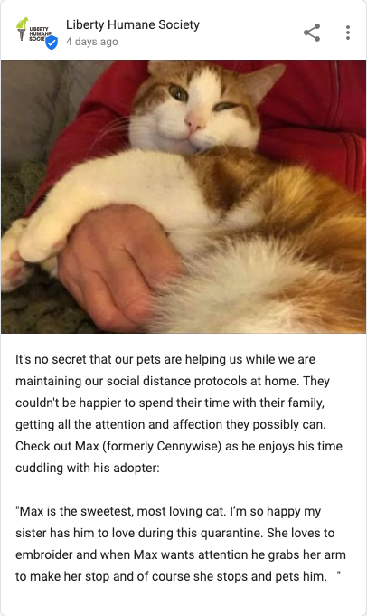 post from liberty humane society