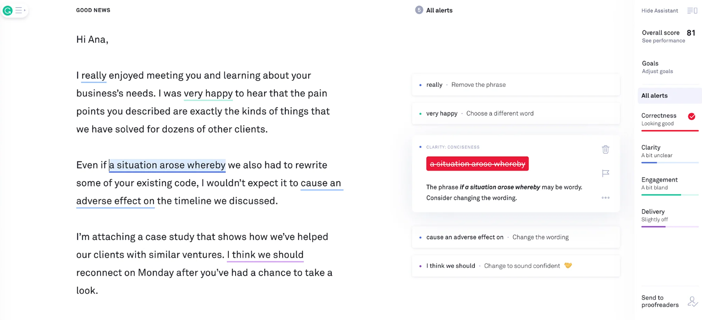 Tools like Grammarly are practically universal when it comes to grammar for marketers