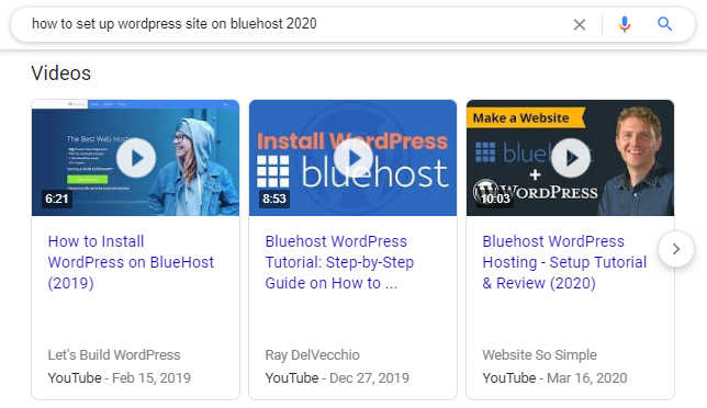 Video results via Google can clue you in on which sorts of videos are optimized for YouTube SEO