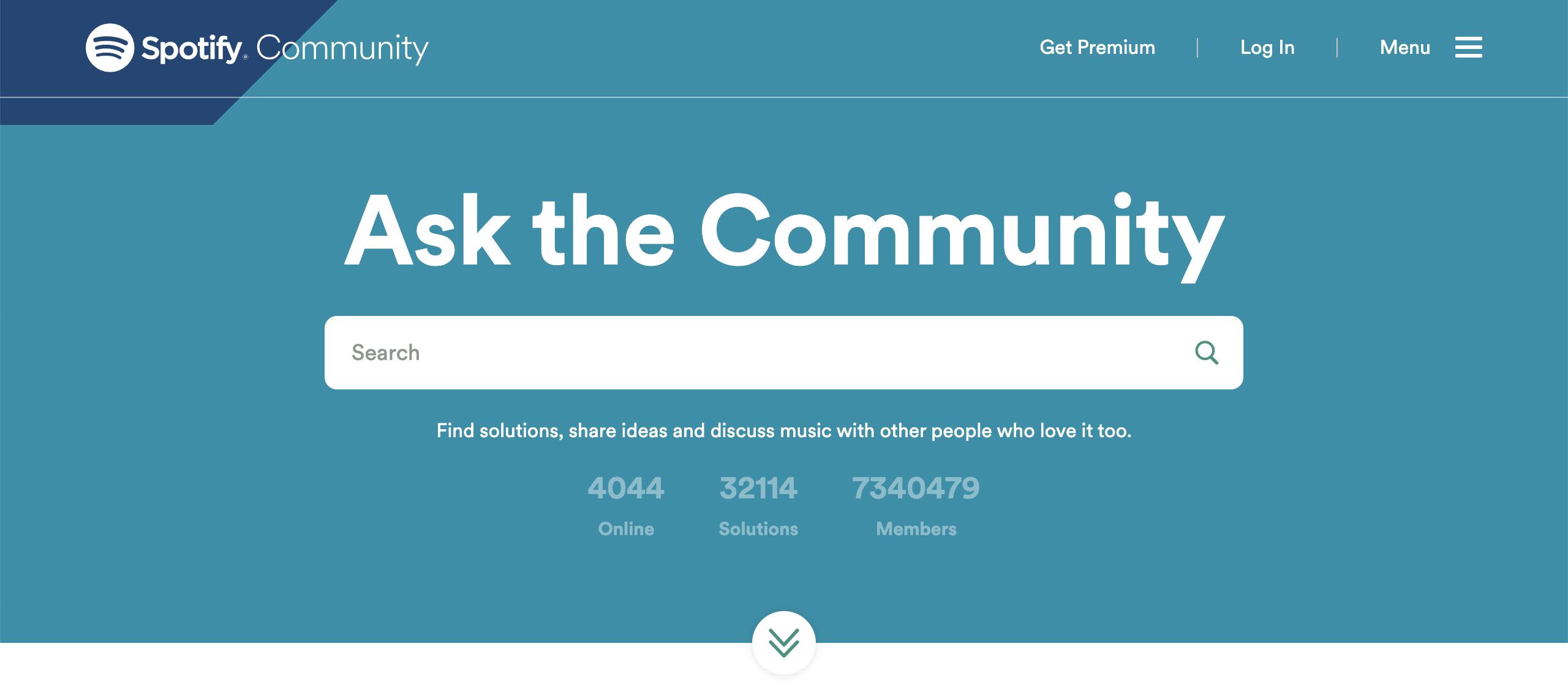brand community - spotify's community forum