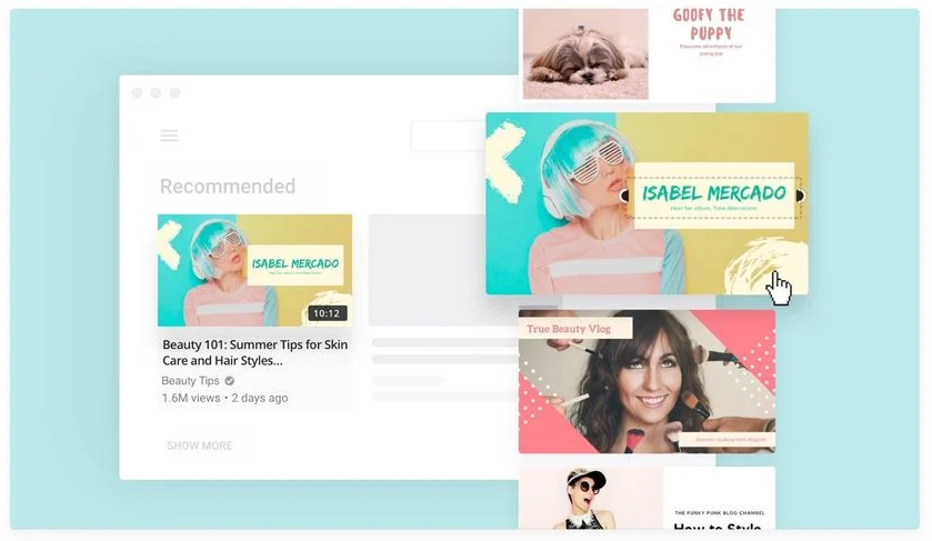 Canva YouTube thumbnail template