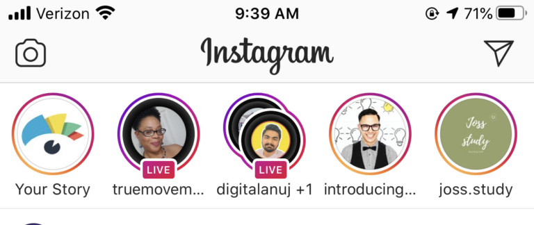 ig live examples