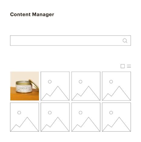 Mailchimp content manager screenshot