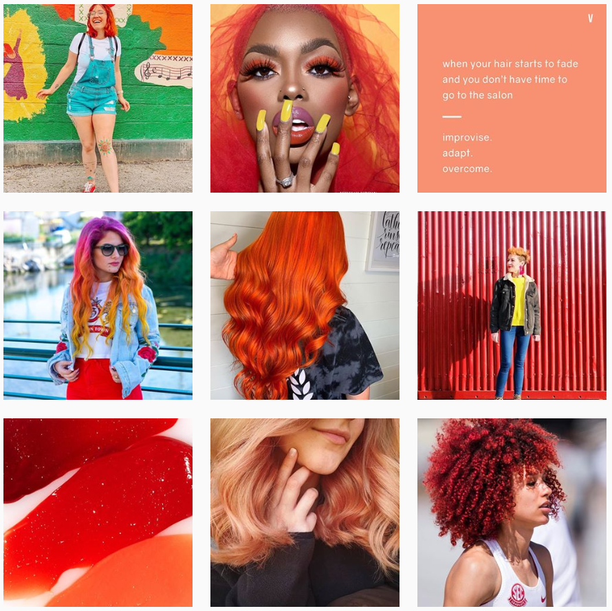 oVertone's creative trademark on Instagram is their use of color