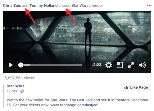 facebook share example