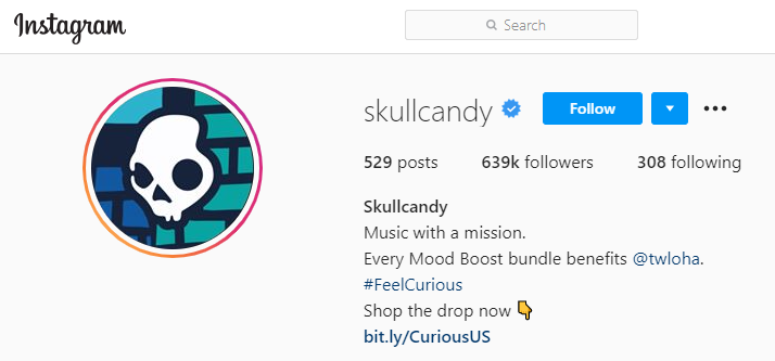 skullcandy instagram