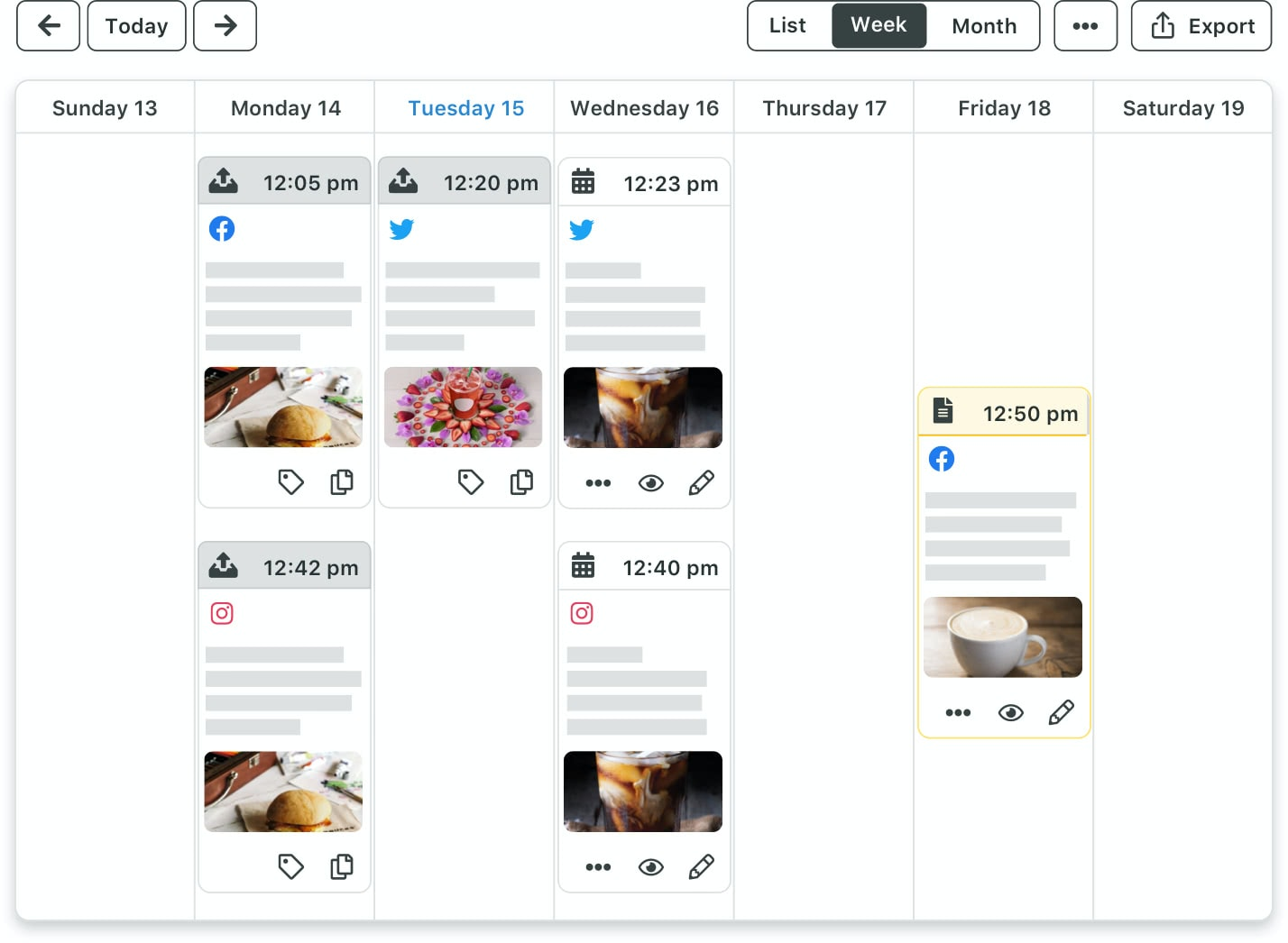 Using a social scheduling calendar, such as this one, is important for international marketing to ensure you get the most out of your content.