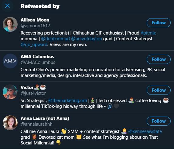 social shares on Twitter