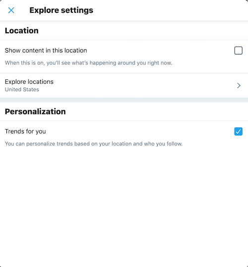 How to personalize Twitter trends on desktop
