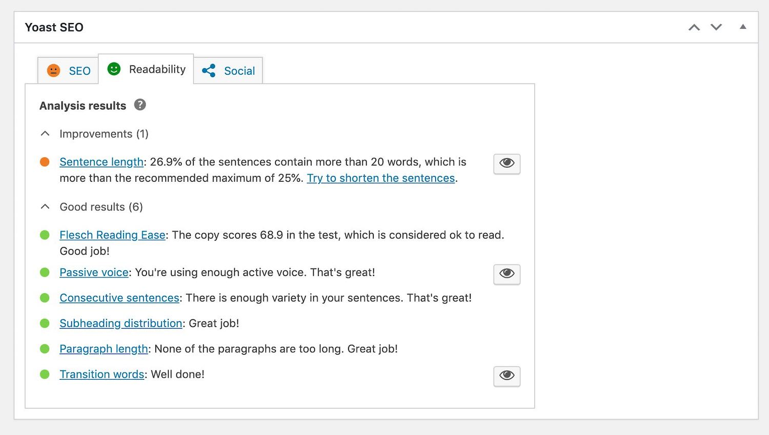 Screenshot of Yoast SEO WordPress plugin