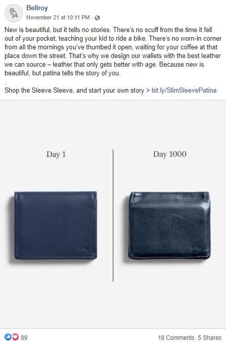 longevity marketing messaging on social media