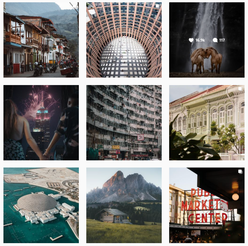 passion passport Instagram content themes