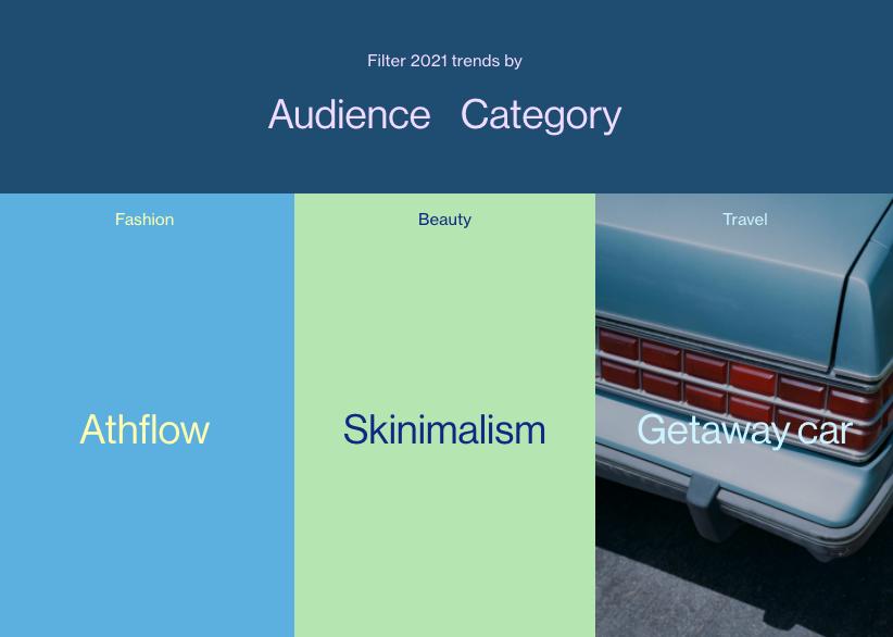 Screenshot of Pinterest's 2021 Trend Prediction Industry Report