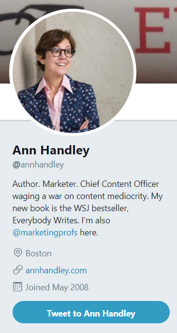 An optimized profile picture on Twitter proves that you're not a bot