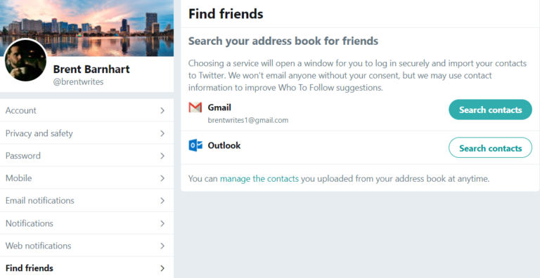 Importing your email contacts is a smart strategy for finding Twitter followers