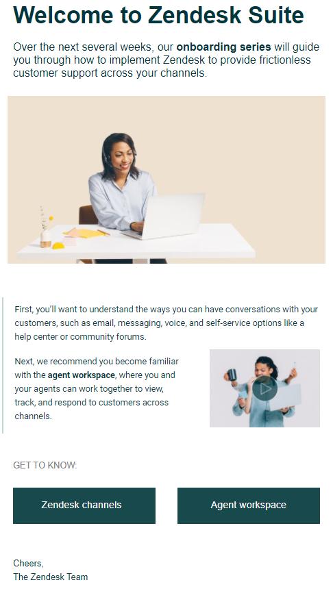 correo electrónico de presentación de zendesk
