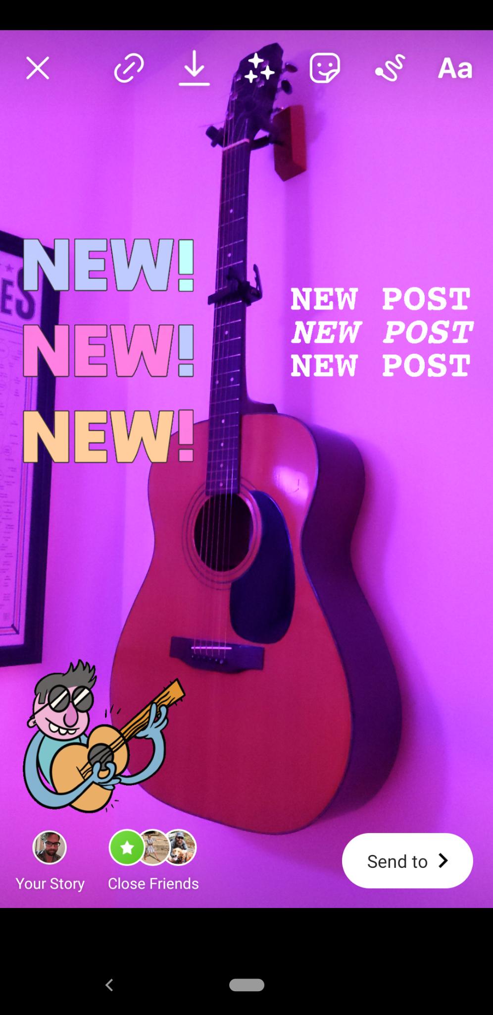 Instagram Stories new post
